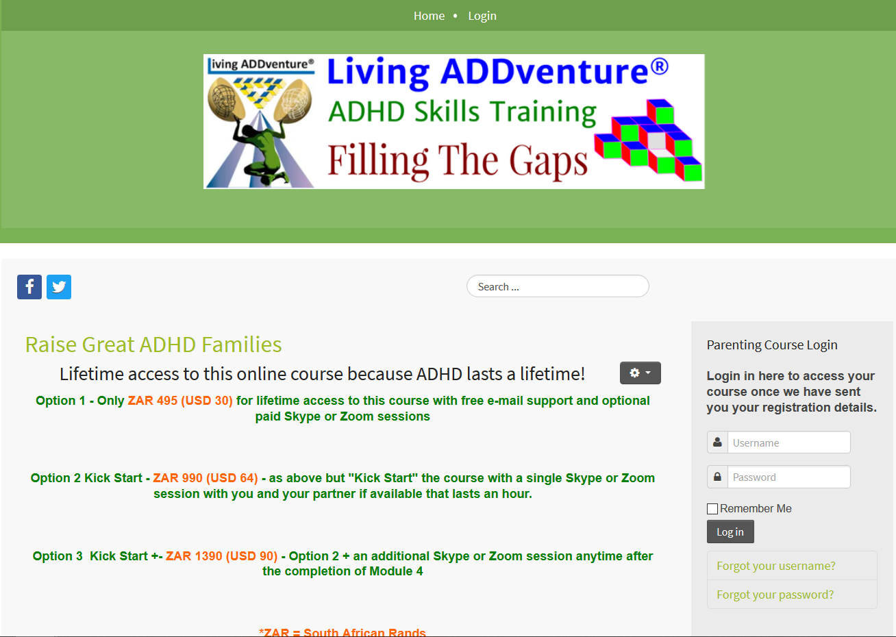 Living ADDventure Training